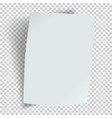 sheet paper with a bend and shadow vector image vector image