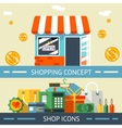 Shopping Concept and Icons Designs