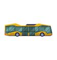 side view modern school bus school students vector image vector image