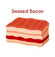 smoked bacon pork ham cartoon flat style vector image vector image