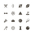sport - flat icons vector image vector image