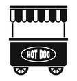 street cart hot dog icon simple style vector image vector image