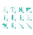 stylized hunting and arms icons vector image vector image