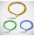 talking bubbles vector image vector image