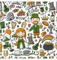 travel to ireland seamless pattern for your vector image vector image