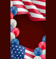 usa country patriotic background template vector image vector image