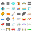 wall brick icons set cartoon style vector image vector image