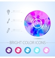 watercolor icon vector image vector image