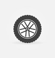 wheel symbol or icon rim symbol vector image vector image