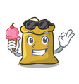 with ice cream flour character cartoon style vector image