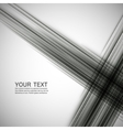 abstract black lines on a white background vector image