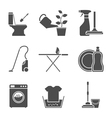 housework icons vector image