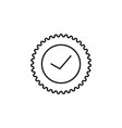 solved sticker icon vector image