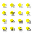 16 pollution icons vector image vector image