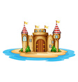 A castle in the island vector image vector image