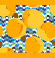 apricot fruits seamless pattern fresh apricots vector image vector image