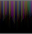 background with colorful lines stripes on black vector image