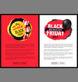 big sale on black friday tags advertising badges vector image vector image