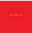 Card with heart shape on Polka dot background vector image vector image