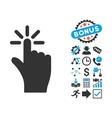 Click Flat Icon with Bonus vector image
