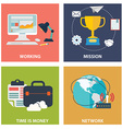 Collection of flat and colorful business marketing
