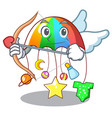 cupid character hanging toy attached to cot vector image