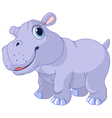 Cute hippo vector image