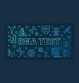dna test blue horizontal banner in outline vector image