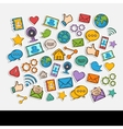 Doodle Social Network Set vector image vector image