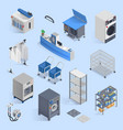 dry cleaning and laundry service isometric set vector image vector image