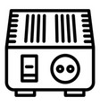electric converter icon outline style vector image