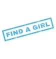 Find a Girl Rubber Stamp vector image vector image