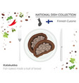 finnish cuisine european national dish collection vector image vector image