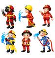 Firemen vector image vector image