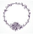 floral frame wreath of rose flowers vector image