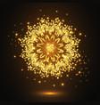 glitter decorative mandala vector image vector image