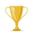 golden winner cup isolated on a white background vector image