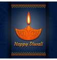 Greeting card for Diwali festival celebration in I vector image vector image