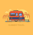 Hind carriage or car trailer on beach vector image