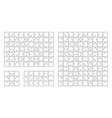 jigsaw puzzle 10x11 square piece template vector image vector image