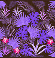 july17-8amazing tropical plants are made in lilac vector image