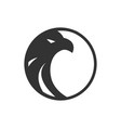 logo black circle eagle template vector image vector image