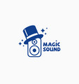 magic sound logo vector image vector image
