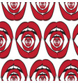 pattern with weird open screaming mouth made vector image vector image