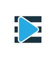 playlist colorful icon symbol premium quality vector image