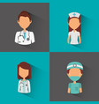 professional medical people vector image vector image