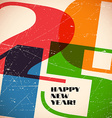Retro card with 2015 sign on scratched paper vector image vector image