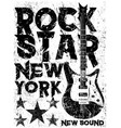 Rock star vintage rock and roll typographic for