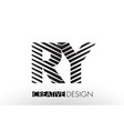 ry r y lines letter design with creative elegant vector image vector image