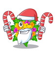 santa with candy lantana flowers isolated with the vector image